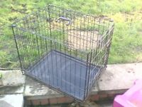 """small dog cage 24"""" long x 19"""" high x 17"""" wide."""