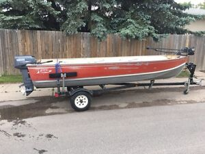 16 ft Lund with a 25 hp Yamaha