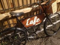 wow antique bike says cafe lovley display for your gaff