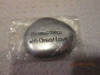 """Cathedral Art SS131 Do Small Things With Great Love 1-1/2"""" SOOTHING STONE New"""