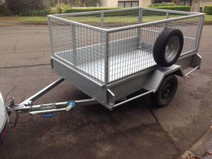 8 X 5 - Heavy Duty Caged Box Trailer for Rent / Hire - NorthShore