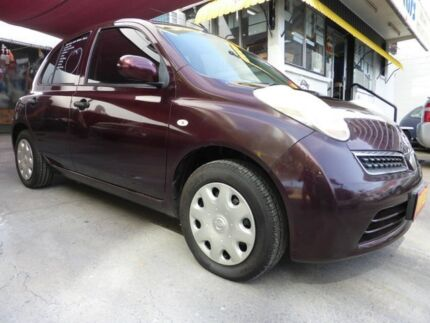 2008 Nissan Micra K12 Maroon 4 Speed Automatic Hatchback Southport Gold Coast City Preview