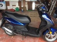 SYM SYMPLY 50 49CC BLUE MOTORCYCLE