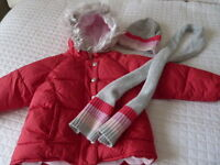 Girls Puffer Winter Jacket with Matching Hat/Scarf-can deliver!
