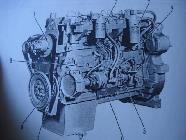 KOMATSU 6D125 DIESEL ENGINE SERVICE MANUAL c1992   Engine