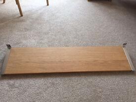 Used Ikea Jarpen Shelf in Brown/Birch 119 x 28 cm
