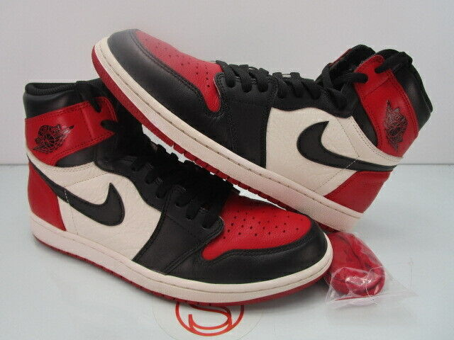 Nike Air Jordan I 1 Retro High Og BRED TOE 10.5