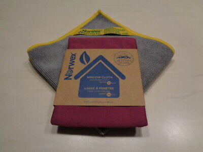 Norwex Basic Package EnviroCloth in Mushroom & Window Cloth in Plum NEW