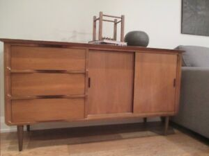 Small MCM Walnut Credenza by Vic-Art