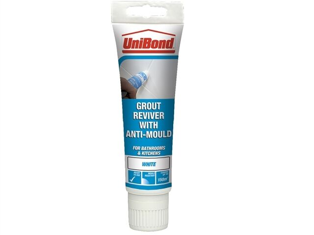 Unibond Grout Reviver With Anti-Mould 125ml Ice White