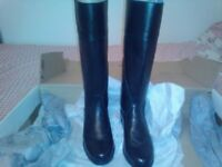 horse riding boots size 5 black tfrost