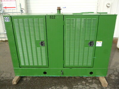 Onan Cummins 35kw Standby Generator Enclosure 1 Phase 240v Natural Gas 99