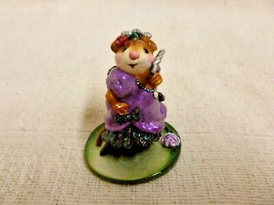 Wee Forest Folk Carmen Special Edition M-258 Purple Dress Mouse Retired