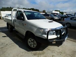 2013 Toyota Hilux KUN26R MY14 SR (4x4) White 5 Speed Automatic Cab Chassis Devonport Devonport Area Preview