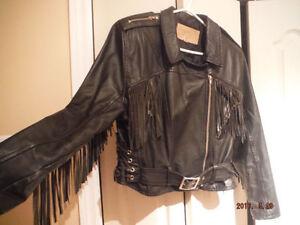 veste de moto vintage en cuir de marque TAURUS