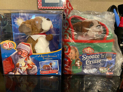 NEW ELF ON THE SHELF Elf Pets Saint Bernard and snooze and cruise