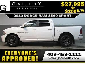 2012 DODGE RAM SPORT CREW *EVERYONE APPROVED* $0 DOWN $209/BW!