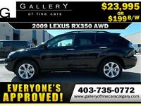 2009 Lexus RX350 AWD $199 bi-weekly APPLY TODAY DRIVE TODAY