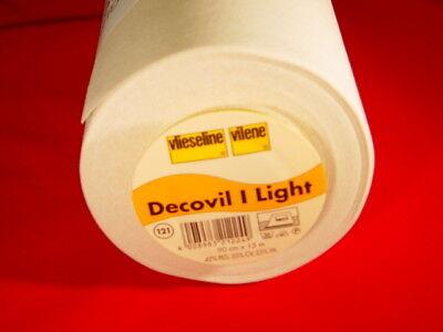 (10,94€/m²) 10m-Stück Vlieseline Decovil I light 90cm breit