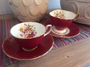 Pair of Hammersley Tea Cups and Saucers