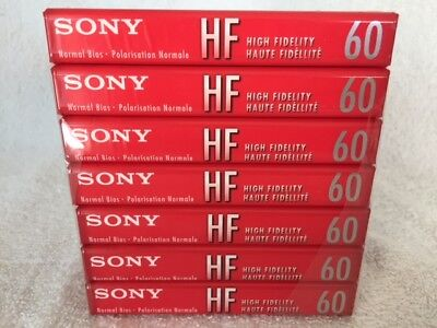 7 Sony High Fidelity Normal Bias 60 Minute Blank Sealed