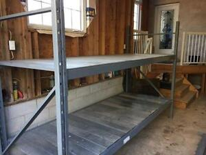Shelving heavy duty -  galvanized shelves