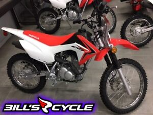 2017 HONDA Off Road CRF 125 FBH   E Start Red