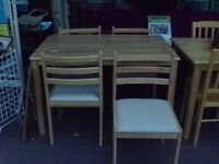 Farmhouse Style Table & 4 Chairs Excellent Condition