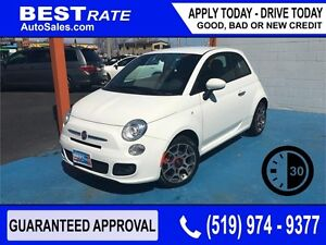FIAT 500 SPORT - APPROVED IN 30 MINUTES! - ANY CREDIT LOANS