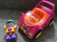ELC Pink car and lady driver Early Learning Centre - batteries included (worth £12)