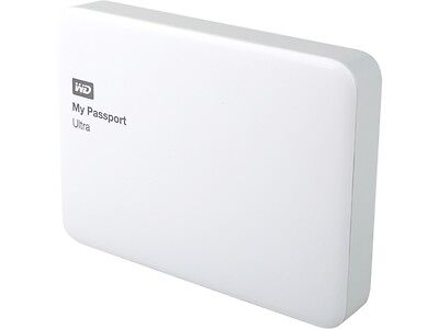 WD 2TB White My Passport Ultra Portable External Hard Drive - USB 3.0 - WDBBKD00