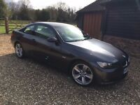 BMW 325i coupe Automatic petrol in sparkling graphite grey with creme dakota leather,FSH