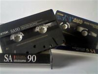 2x VINTAGES TDK SA SUPER AVILYN CASSETTE TAPES 1991 & 1997 TYPE 2 CHROME.