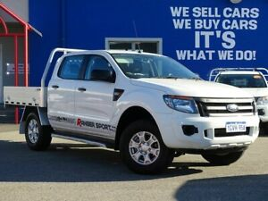 2015 Ford Ranger PX XL Double Cab 4x2 Hi-Rider White 6 Speed Manual Utility Welshpool Canning Area Preview