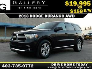 2013 Dodge Durango AWD $159 bi-weekly APPLY NOW DRIVE NOW