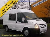 2013/ 13 Ford Transit Minibus 125 T300s Crew Cab-Window Van Fwd 2.2Tdci Euro-5