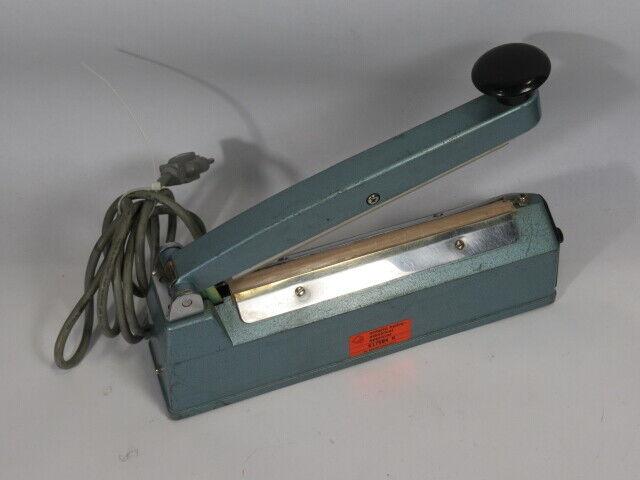 """TEW TISH-200 8"""" Handheld Bag Sealer 2mm 110-120VAC *Damage to Cable* USED"""