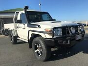 2011 Toyota Landcruiser VDJ79R MY10 Workmate White 5 Speed Manual Cab Chassis Mackay Mackay City Preview