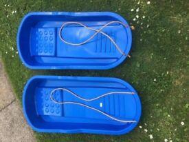 2 New Blue Sleighs
