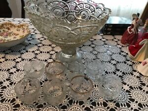 Antique Punch Bowl Set (Over 175 Years Old)
