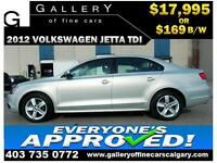 2012 Volkswagen Jetta TDI $169 bi-weekly APPLY NOW DRIVE NOW