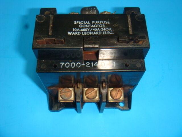 WARD LEONARD ELECTRIC, SPECIAL PURPOSE CONTACTOR, 700-2140-11, USED