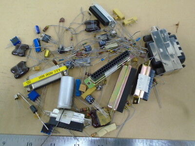 Lot Of Various Diodes Resistors Plugs Transistors