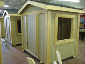 Prebuilt 8x8 storage shed, chicken coops, pool shed.