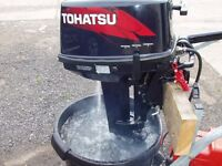 Tohatsu 9.8hp outboard motor boat engine fishing dinghy inflatable dingy rib sib