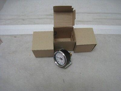 """3 new AMAT 3310-01139 pressure gauge 0-160PSI 2""""D 1/8 NPT CTR-BK"""
