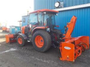 2016 KUBOTA L6060 WITH 6.5-10 POWER ANGLE BLADE AND SNOWBLOWER