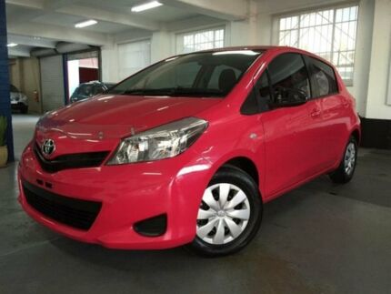 2013 Toyota Yaris NCP130R YR Pink 4 Speed Automatic Hatchback Five Dock Canada Bay Area Preview