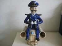 Comical Porcelain Decanter Of A Sea Captain Sitting On A Barrel £12.00 ono