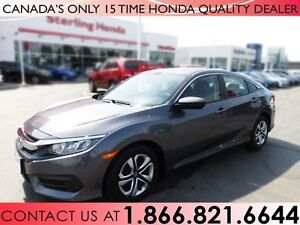 2017 Honda Civic LX | NO ACCIDENTS | 1 OWNER | LOW KM'S